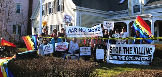 Mar. 19, 2010 demonstration at Rep. Delahunt's Hyannis office